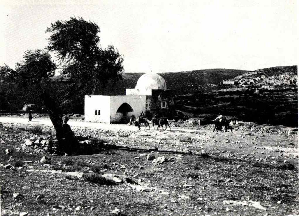 Haïfa en 1887, Shaar Hagaï (route de Jérusalem) et tombeau de Rachel en 1900
