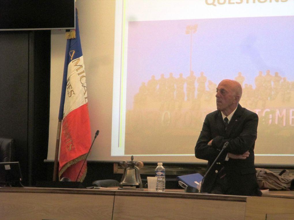Les intervenants : Le capitaine Thibaut, Le Président Pierre Chauvet