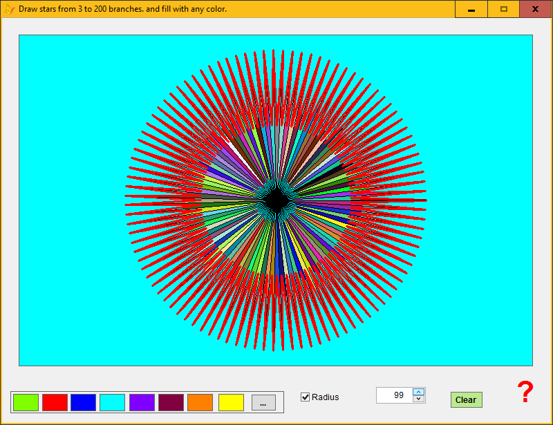 can modify with ths spinner2 control the radius r0 (0.6*r,0.7*r,0.8*r,0.98*r...) to have another lkinds of stars.
