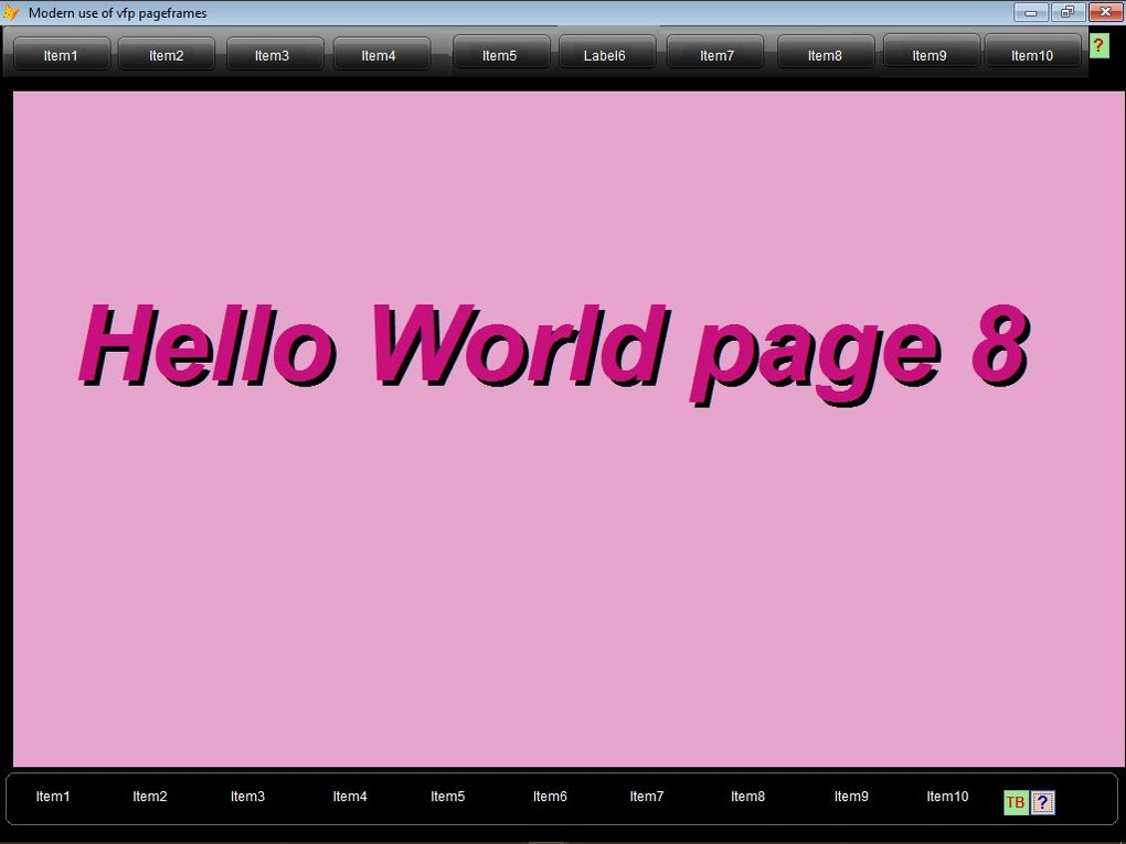 the demo uses 2 themed  toolbars as container (can keep one only for use).