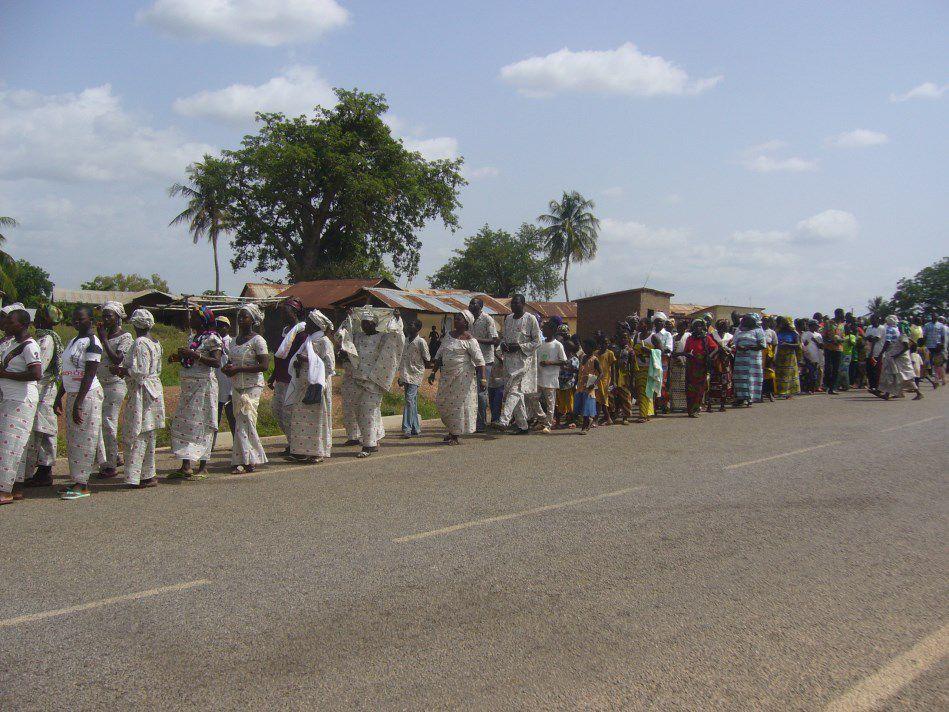 la dévotion mariale aux pieds de Notre Dame de Dompago à Badjoudé, nord du Bénin