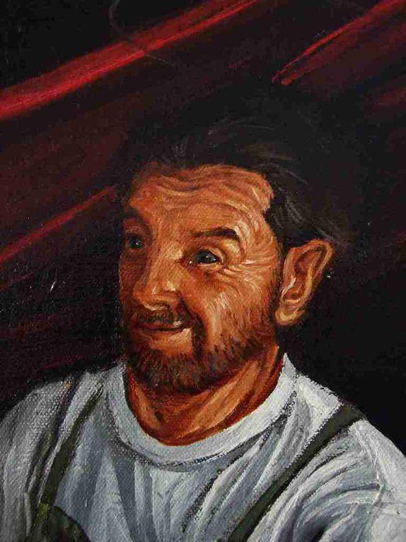 L'atelier de Joseph ou La Sainte Famille Quatre détails Huile sur toile 70x70  2008-2015 Bhavsar