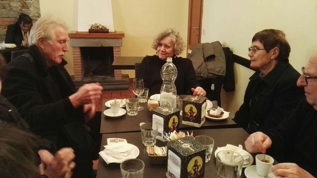 pausa pranzo  betty fabrizia lucia carlo gianna, mamma renata, carla, francesca, renata, anna marcella