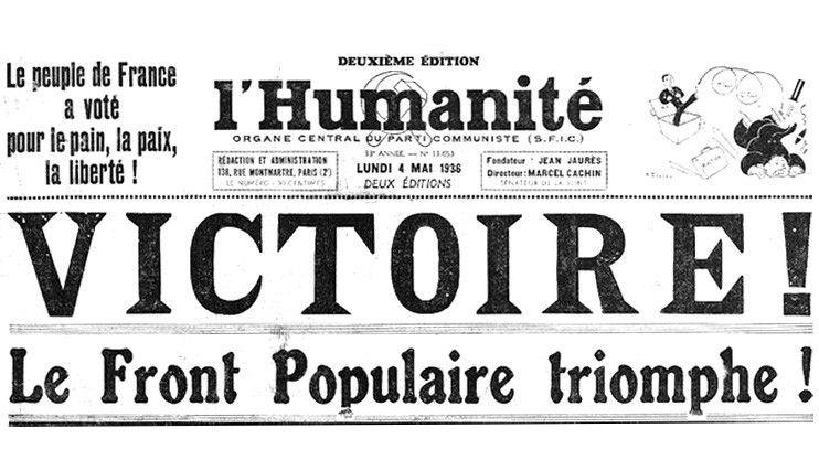 1936 : Les 80 ans du Front Populaire