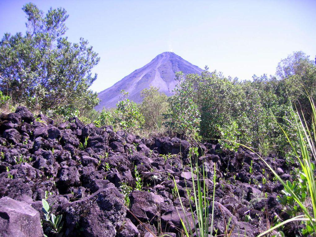 L'Arena volcan actif et ses fumerolles, forêt tropicale humide.