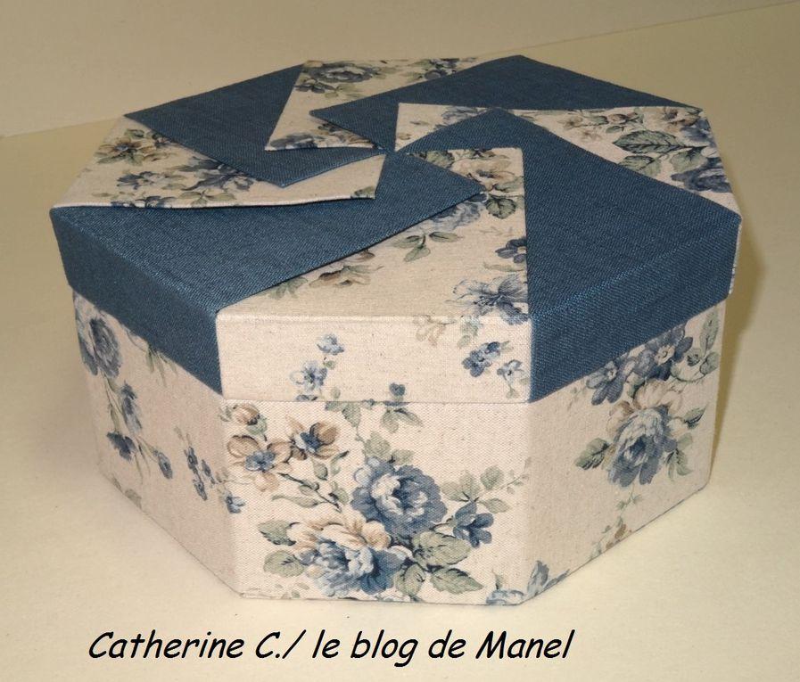 CATHERINE C/ ELEVE DE MANEL /BOITE OCTOGONALE ONGLET ET ORIGAMI