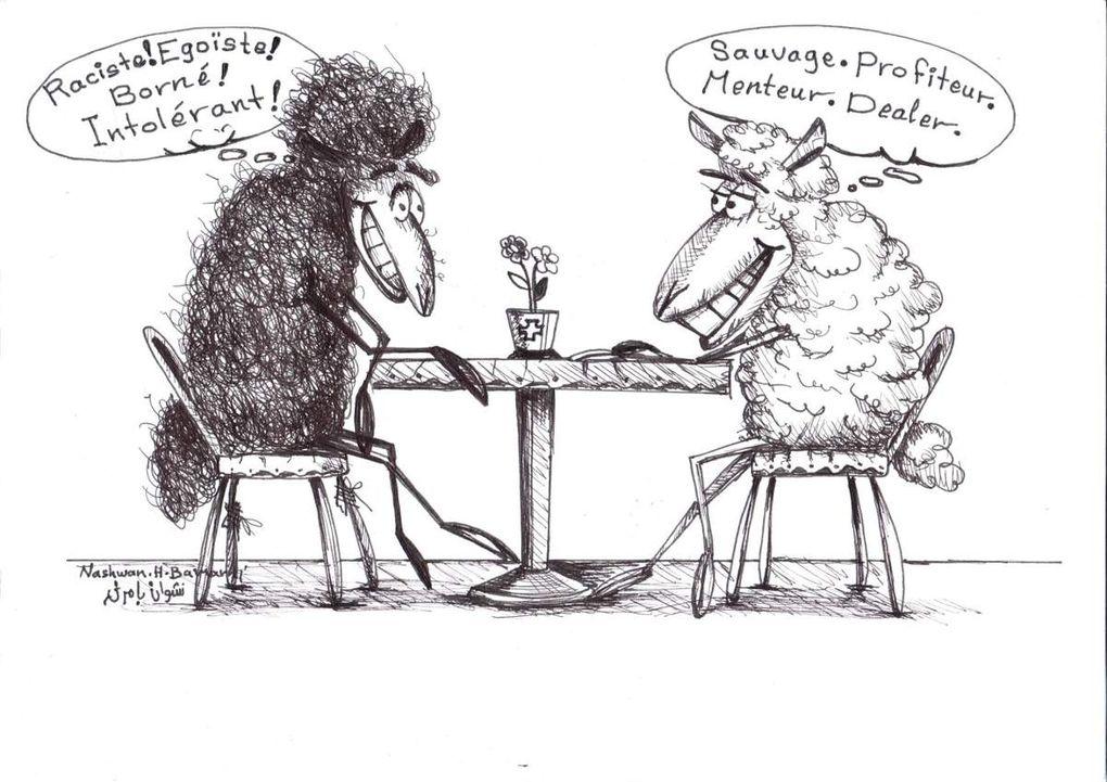 Hormis le loup, un seul animal ici n'est pas un mouton... Lequel ?