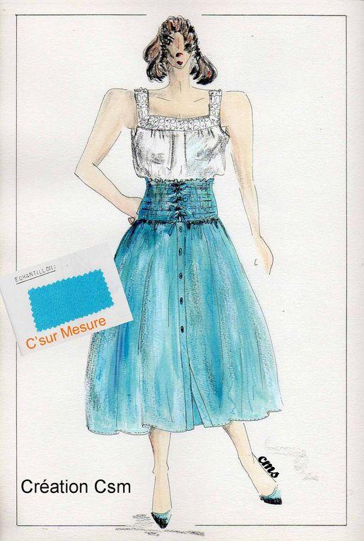Book Figurines Csm, mes Créas de mode : pour divers dossiers /concours...
