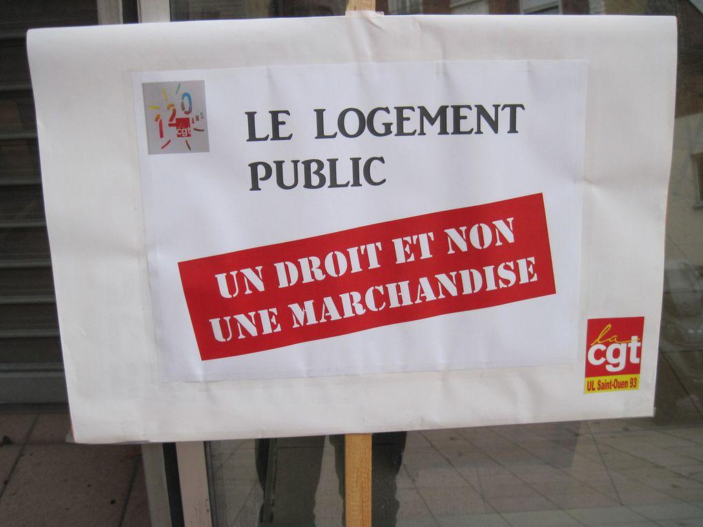 St Ouen Habitat Public : rassemblement contre la privatisation de l'OPH
