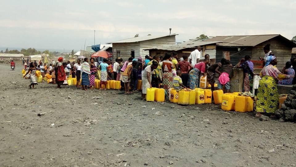Goma le manque d'eau reste toujours une équation sans solution