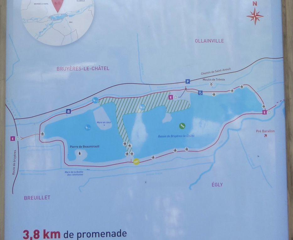 Randonnée d'Egly à Saint-chéron - 20,7 km.