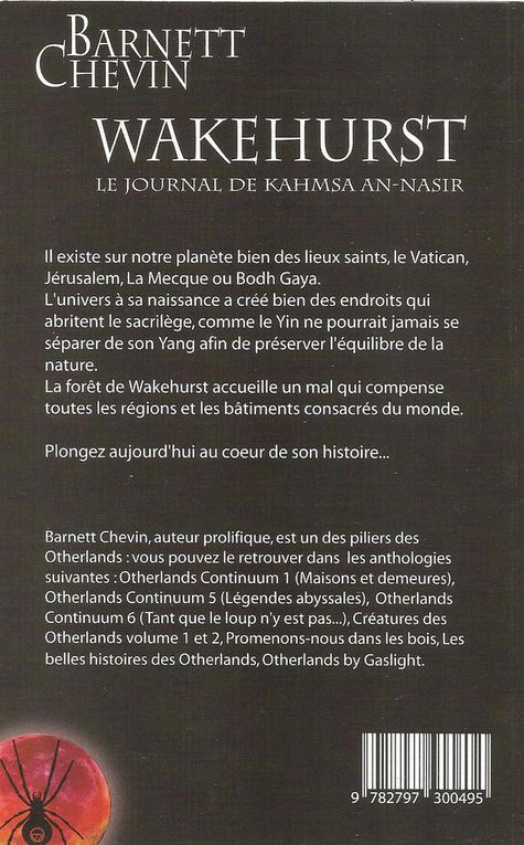 Couvertures de Wakehurst, le journal de Kahmsa An-Nasir