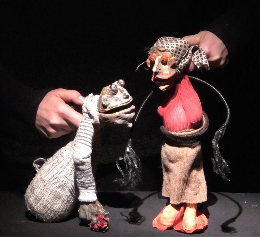 Réalisation marionnettes par les élèves de la fomation marionnettes 2016-2017