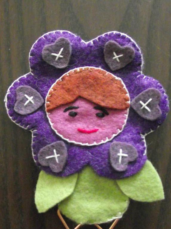 Marque page fleur