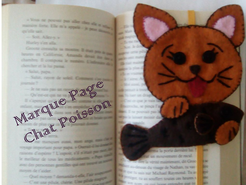 Marque page Chat Poisson