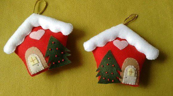 Maison de Noël en feutrine