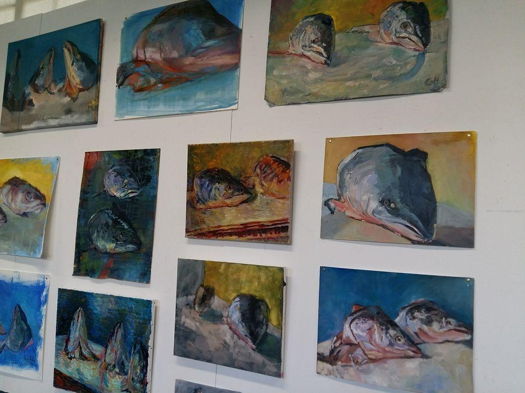 Oeuvres des élèves des ABA Montparnasse, bravo à eux