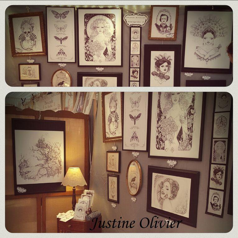une photo de mon stand au Salon des Artisans Créateurs, et mes petites cartes postale.