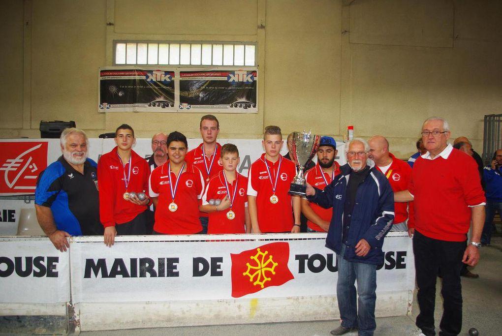 3ème, 2ème, et Champions de FRANCE !!! Pour Midi-Pyrénées au CNC JEUNES 2015