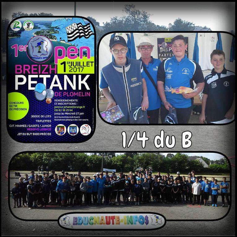 1er Open Breizh Petank de Plomelin (29) et son folklore