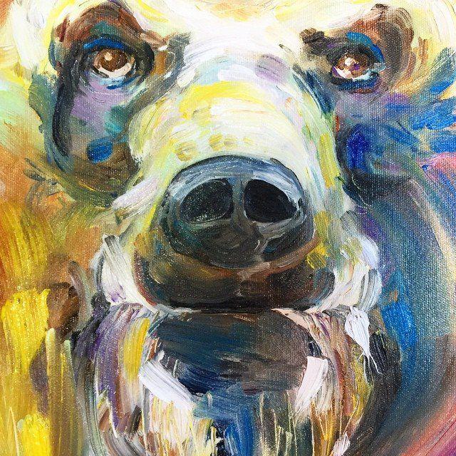 Dessin et peinture - vidéo 1643 : Un troupeau d'éléphants, tout en couleur - peinture à l'huile.