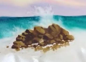 Dessin et peinture - Vidéo 1665 : Comment peindre la mer autour du rocher à l'aquarelle 2 ?