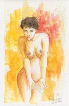 Dessin et peinture - vidéo 1693 : Comment réaliser, pas à pas, un nu à l'aquarelle ?