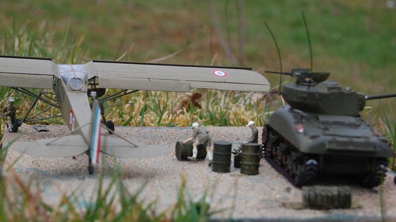 Sherman M4A1 au 1/48 de chez Hobby Boss (par Yves)