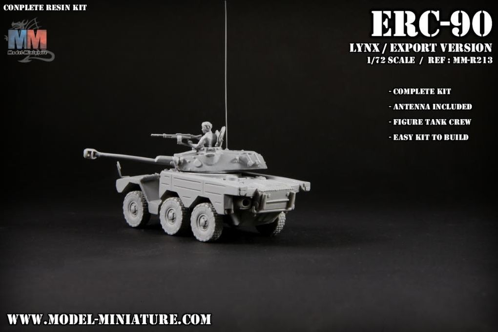 ERC-90 Sagaie au 1/72 (Model Miniature)