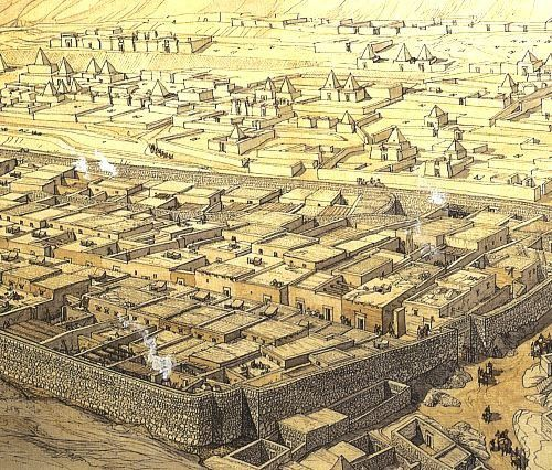 Reconstitution d'Akhet-Aton...