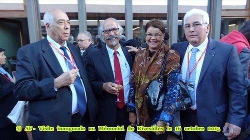 Visite inaugurale au Mémorial de Rivesaltes le 16 octobre 2015