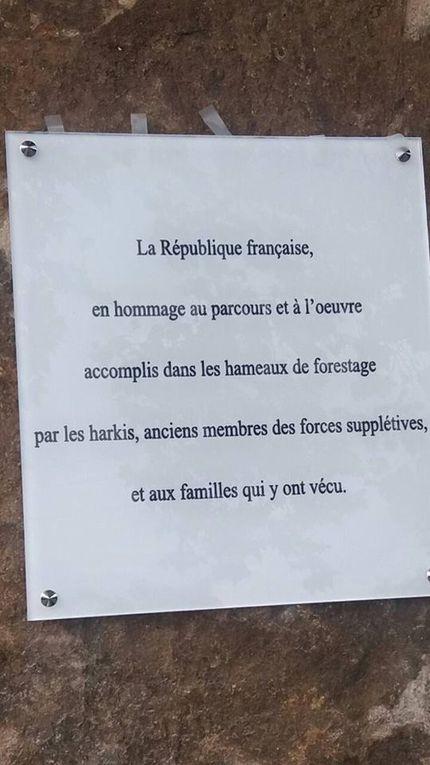 Harkis INAUGURATION DE LA STÈLE DU HAMEAU DE RAVIN À LA GRAND COMBE (30).