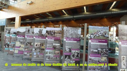 Eugénie de Montijo accueille les harkis à Biarritz (64), station balnéaire mondialement connue