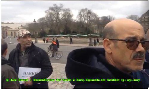 Les photos du 19 mars 2017 au rassemblement des harkis à Paris, Esplanade des invalides