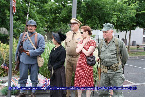 L'Association Harkis Dordogne s'est rendu à la commémoration de l'ancien camp militaire américain de la Cité Bel Air à Boulazac (24)