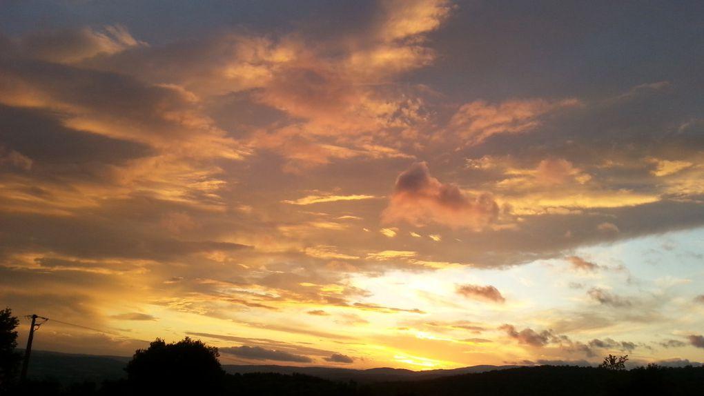 Crépuscule du soir depuis Soulobres (Millau)