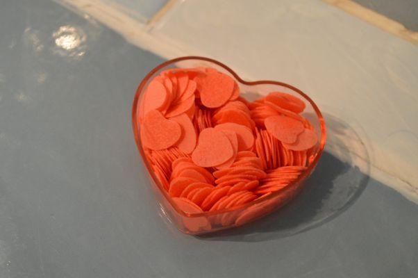 Des petits coeurs dans son bain