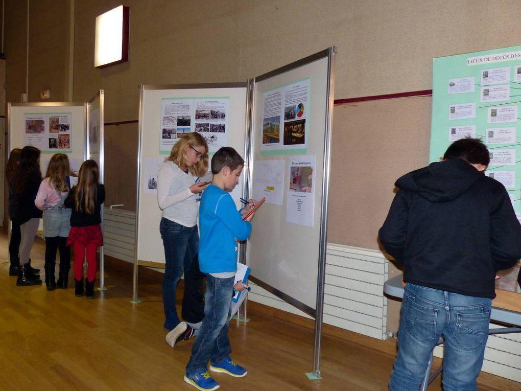 Les classes de Saint-Christophe à l'exposition sur la Grande Guerre