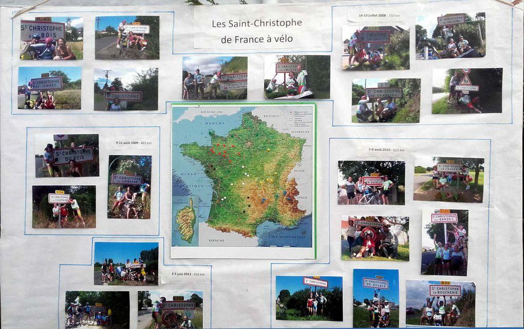Tableaux relatant chacune des semaines consacrées à la découverte des Saint-Christophe de France