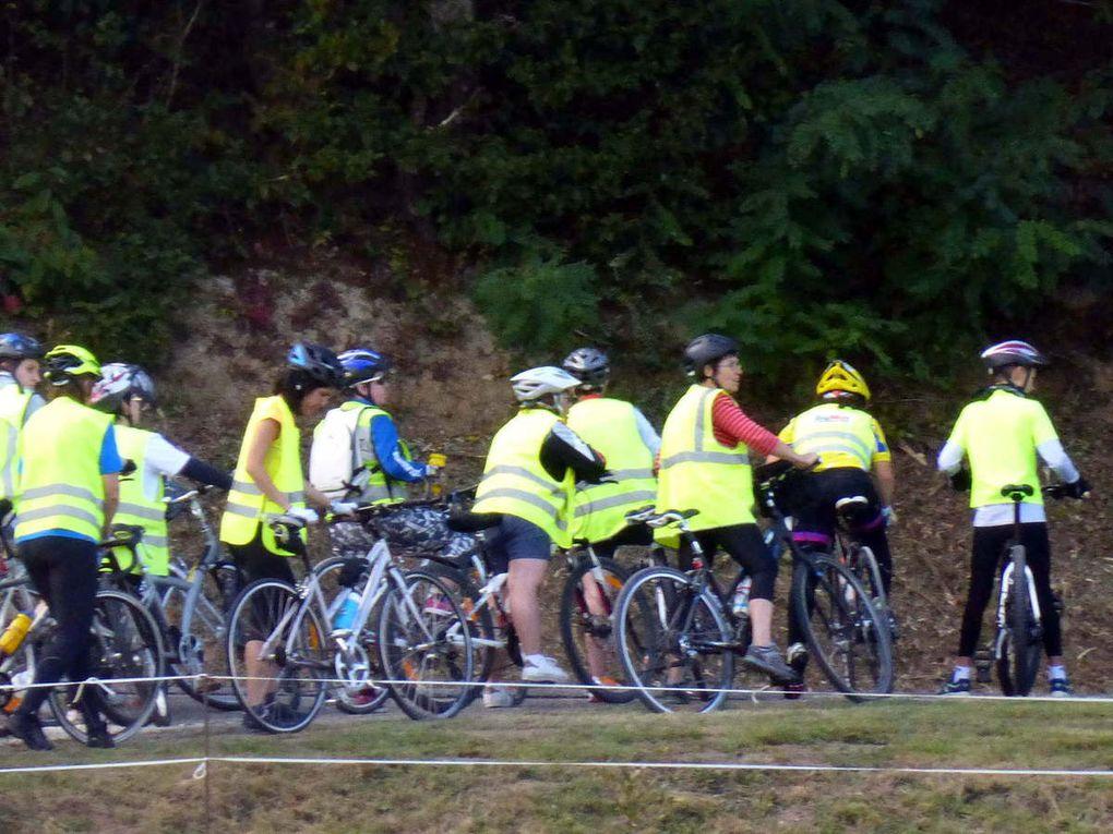 Les cyclotouristes prêts pour participer aux échappées belles.