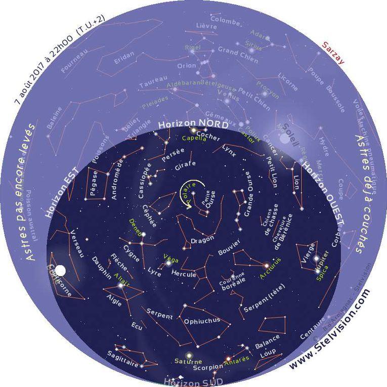 Carte du ciel pour la nuit du 6 août 2017