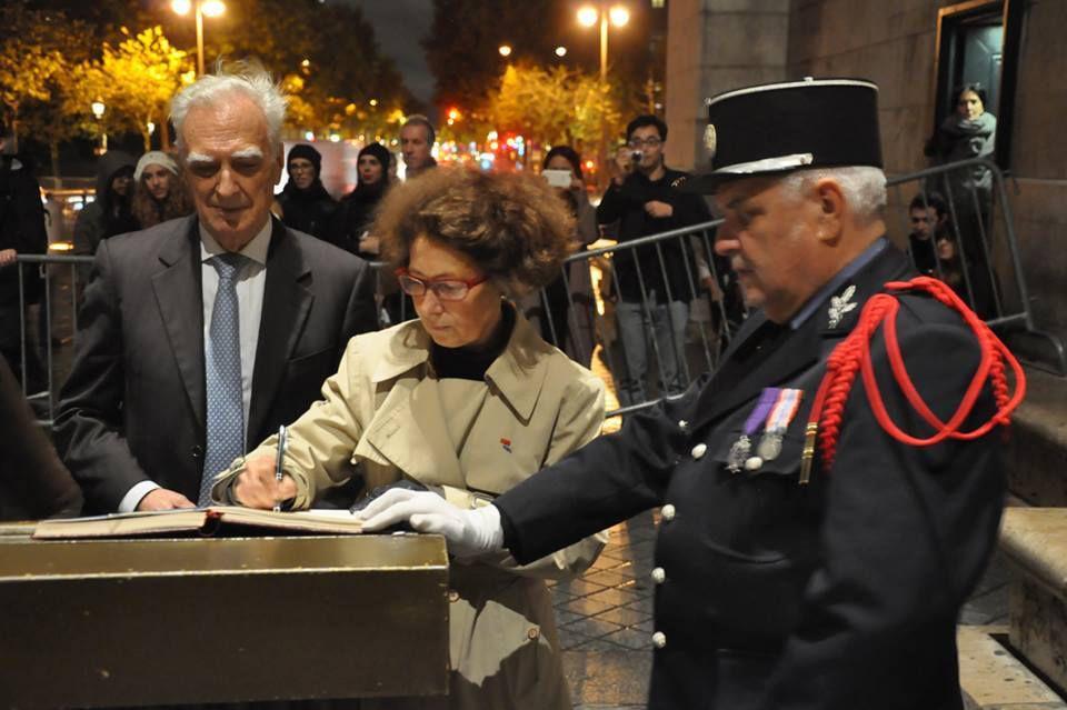 L'UGF présente au ravivage de la Flamme sous l'Arc de Triomphe à l'occasion des 50 ans de Femme Avenir