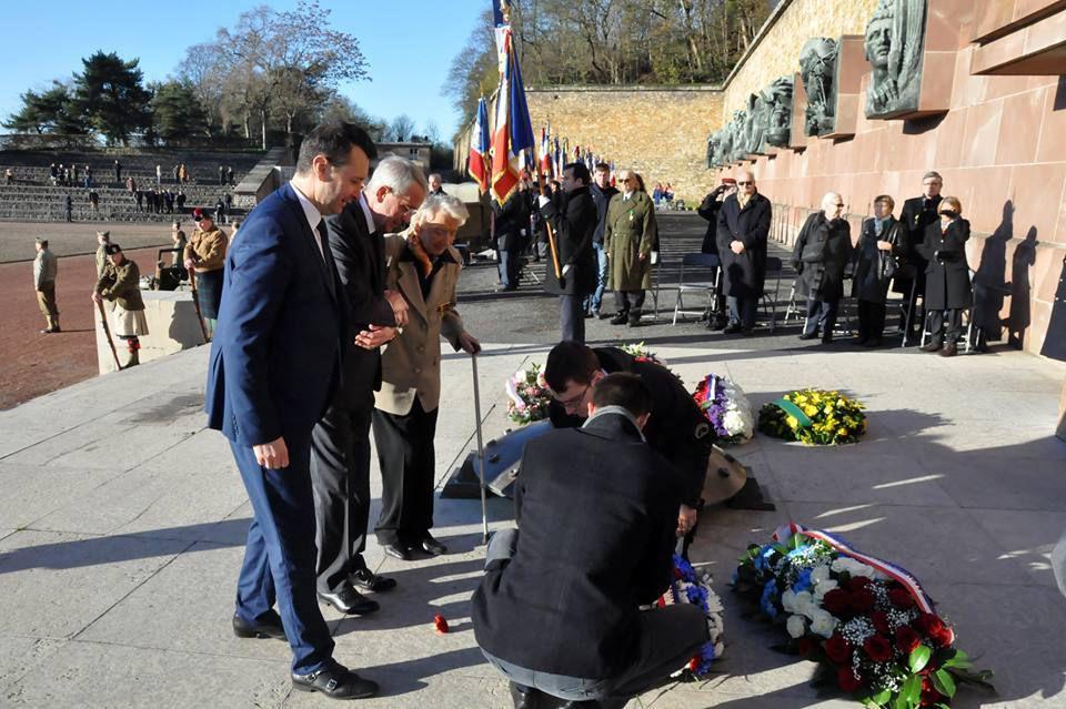 Cérémonie annuelle du 22 novembre 2015 au Mémorial du Mont-Valérien