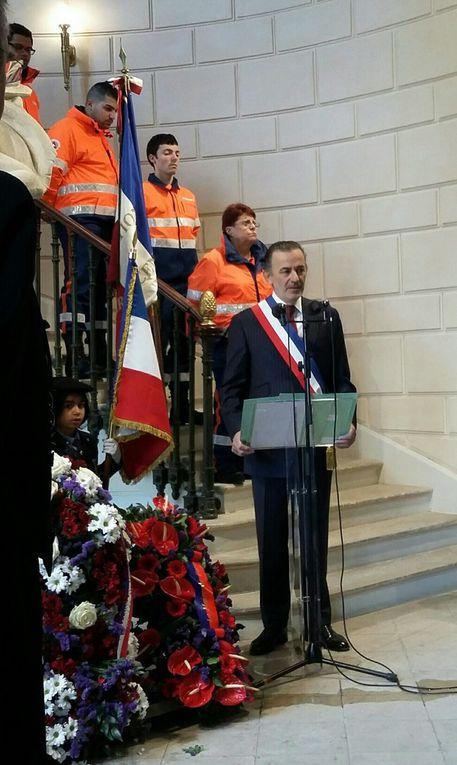72ème anniversaire de la victoire du 8 mai 1945: le président national de l'UGF, en mairie du 1er et du 9ème ardt de Paris.
