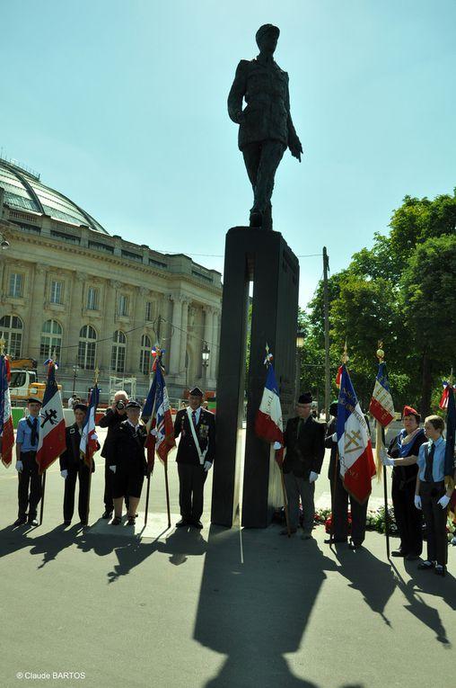 77ème anniversaire de l'Appel du 18 juin: Cérémonie à Paris, de l'Union des Gaullistes de France (UGF) et de la Fondation de la France Libre