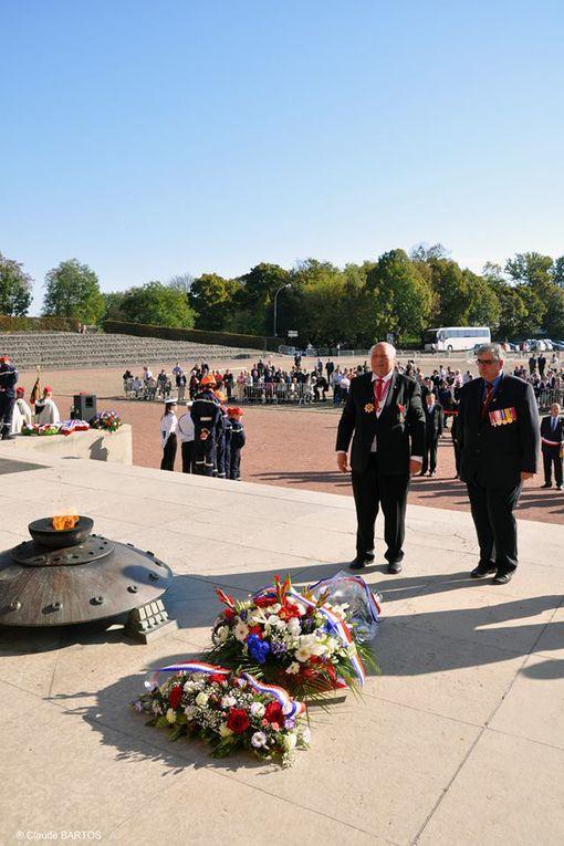 15 octobre 2017: Cérémonie annuelle des &quot&#x3B;Mémoires du Mont-Valérien&quot&#x3B; au Mémorial de la France Combattante, hommage à Lysiane Tellier.