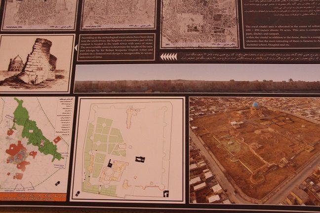 ZANDJAN  - Soltanieh - mosolé de Uldjäitu Soltan Mohamad Khodabandeh - Ilkhanian. Ce mosolé octogonal avec une coupole des plus hautes (50 m), construit entre 1307 et 1313, était initialement destiné aux dépouilles des Imams Ali et Hossein entérés à Kerbala en Irak. Uldjâitu ne pu obtenir les dépouilles et finalement ce mausolée fut attribué à lui même. La ville de Soltaneh fut saccagé par un fils de Tamerlan fin XIVe s., réduit à un village au XIXe s. et grandit de nouveau au XXe s.