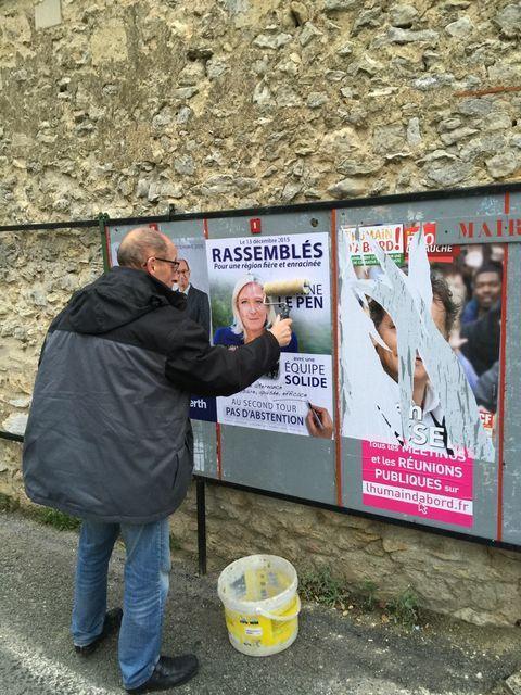 Jusqu'à la dernière minute les candidats et militants du Front National font campagne dans l'Oise !