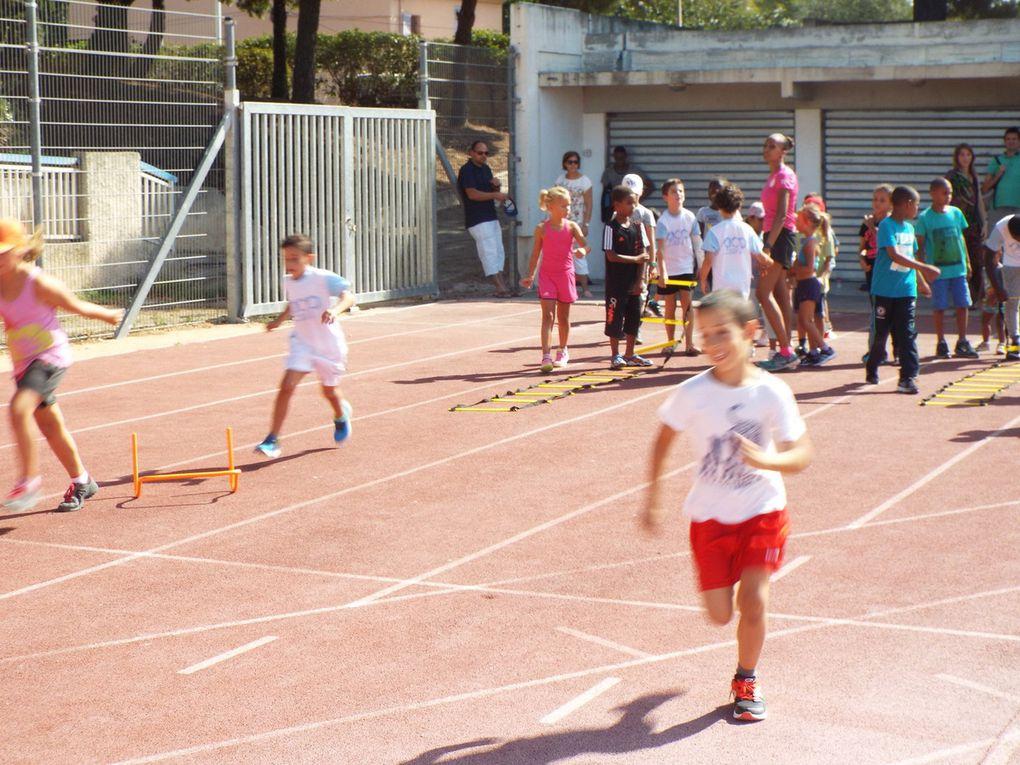 Entraînements des Éveils Athlétiques et des Poussins du samedi 3 septembre.