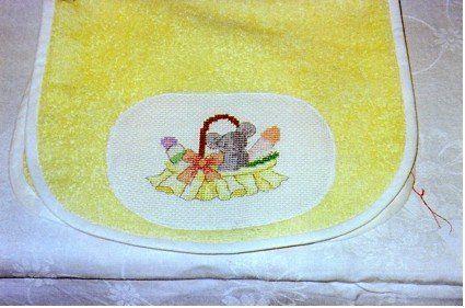 7 bavettes : Peter Rabbit, oursons assis, oursons debout, souris dans panier, oursons aux fleurs, trio de souris - 2004 / 2005
